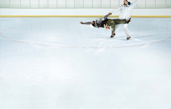Picture dance, humor, Ice, working, skaters