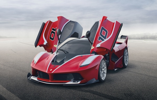 Picture background, door, Ferrari, Ferrari, supercar, the front, FXX K