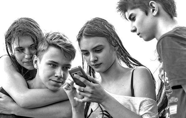 Picture friends, teenagers, Young and beautiful