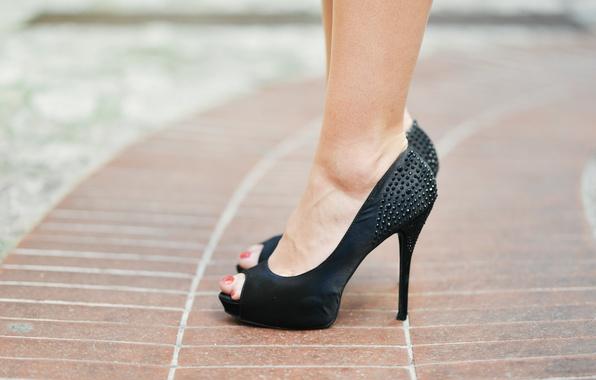 Picture black, fashion, heels, feet