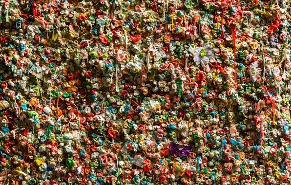 Picture color, wall, texture, chewing gum
