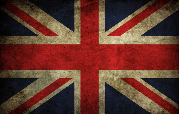 Picture vintage, flag, english