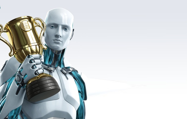 Picture robot, antivirus, ESET, NOD32