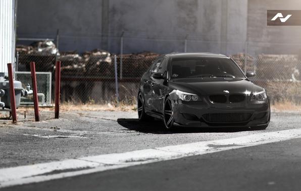 Picture black, BMW, BMW, black, E60, Series m5