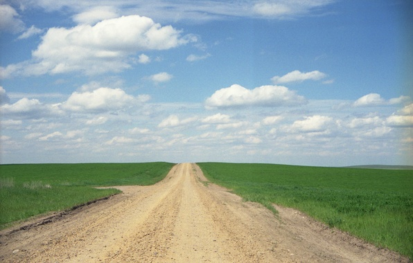 Picture road, the sky, grass, clouds, field, horizon, the countryside, solar, farm