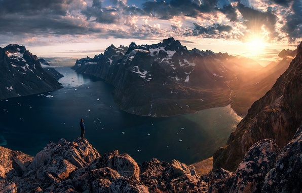 Picture the sun, view, beauty, Greenland