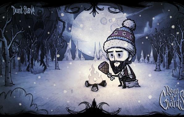 Picture winter, hat, wilson, meat, winter, Wilson, Cyclops, don't starve, reign of giants