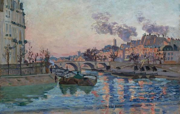 Picture bridge, river, Paris, home, picture, Paris, the urban landscape, Arman Hyomin, the Bridge of Marie