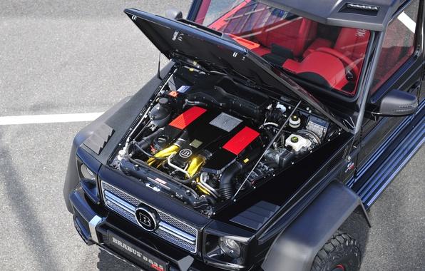Picture Mercedes-Benz, AMG, G63, Engine, Brabus 700 6x6