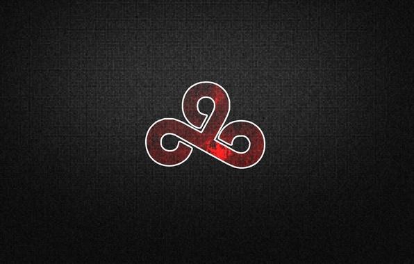 wallpaper red pixels dark black background csgo cloud9