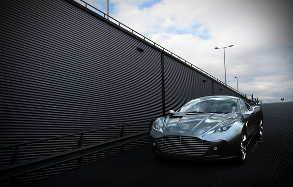 Picture Aston Martin, Auto, The concept, Grey, Gauntlet, The front