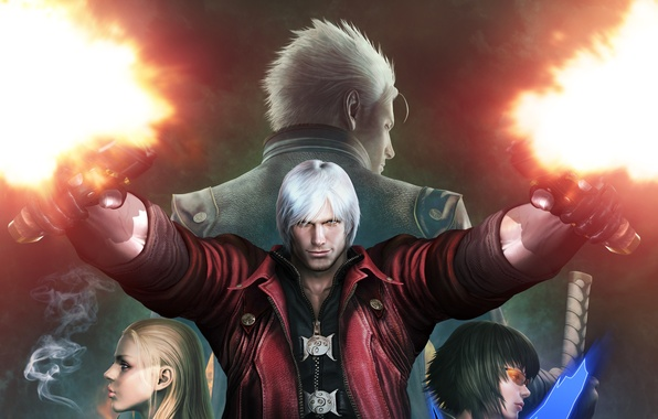 Picture Dante, Devil May Cry, Virgil, Lady, Mary, Trish, Devil May Cry 4 Special Edition