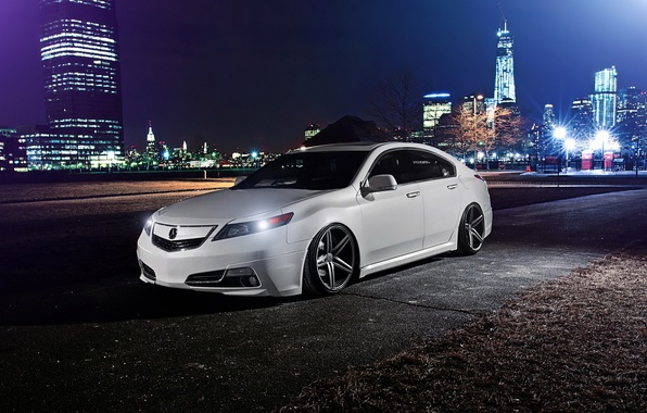 Picture night, tuning, stance, Acura, Acura TL