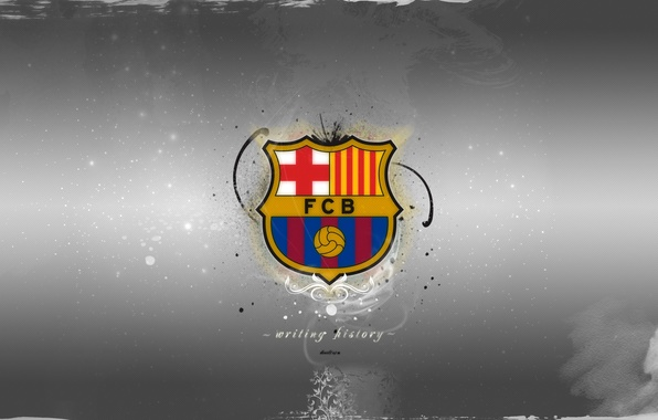 Picture widescreen, football, club, emblem, Spain, club, symbols, Barcelona, Barcelona, football wallpapers, Spain, FCB, Full HD …