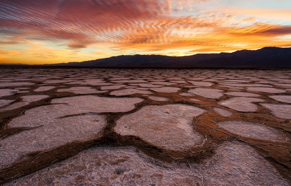 Picture the sky, desert, the evening, CA, USA, state, Death Valley