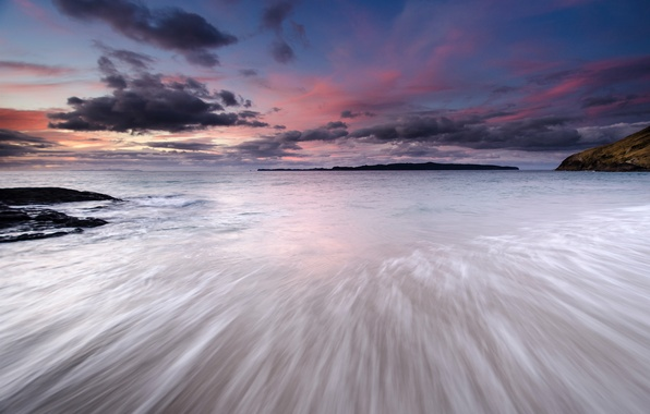 Picture sea, the sky, clouds, sunset, clouds, shore, the evening, Japan, Japan, sky, sea, coast, sunset, …