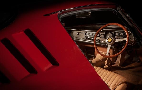 Picture ferrari, vintage, classic, interior, 275 gtb
