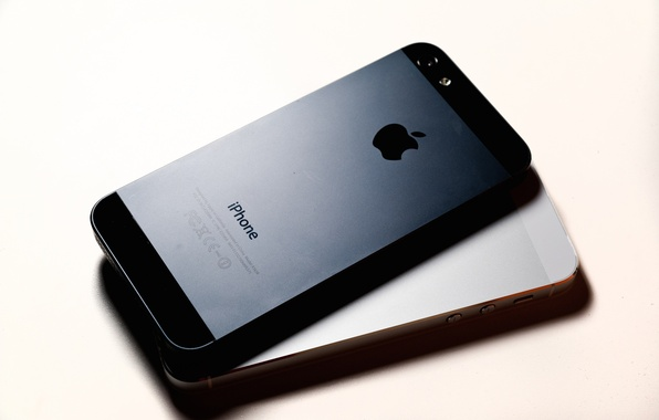 Picture macro, apple, technique, phone, gadget, iPhone 5