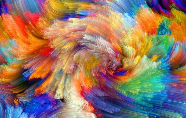 Picture pattern, paint, color, rainbow, the volume, spot, relief