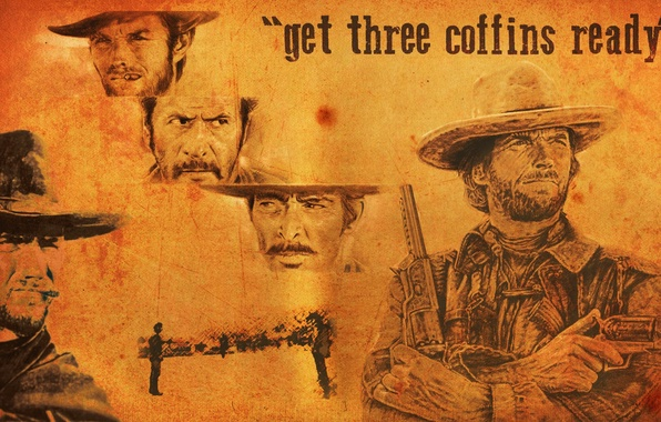 Picture evil, Western, bad, Clint Eastwood, Good, Clinton Eastwood, The Good the Bad and the Ugly