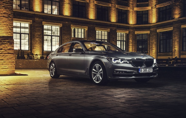 Picture car, night, hq Wallpapers, BMW 750Li, Ciprian Mihai