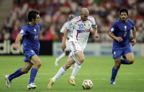 Wallpaper France, Sport, Football, Italy, Legend, Zinedine Zidane, Zizou, The final, Zinedine Zidane, World Cup 2006, ...