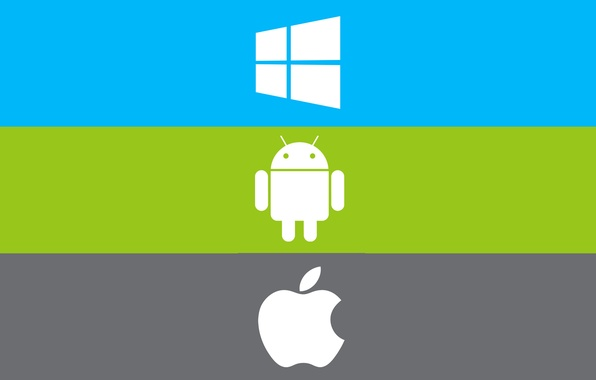 Picture computer, strip, apple, logo, phone, emblem, windows, tablet, android, gadget, operating system