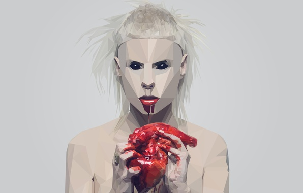Picture blood, heart, Die Antwoord, Visser Was Yolan