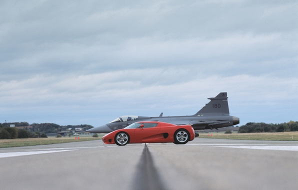 Picture Red, The plane, Koenigsegg
