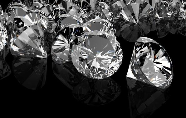 Picture PEBBLES, DIAMONDS, THE DARK BACKGROUND