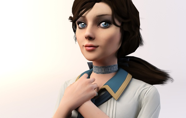 Picture Look, Hair, Eyes, Bioshock infinite, Elizabeth, 3dmax