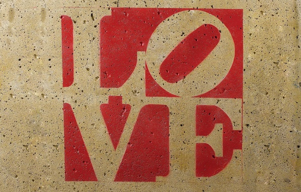 Picture love, letters, wall, the inscription, texture, love, letter, the word