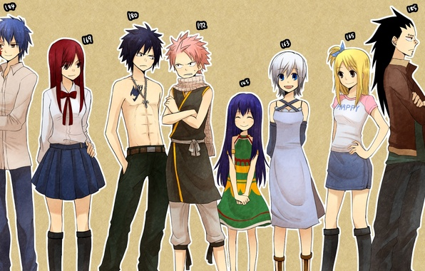 Picture smile, girls, cross, anime, scarf, dress, tattoo, guys, tale of fairy tail, growth, Fairy Tail, …