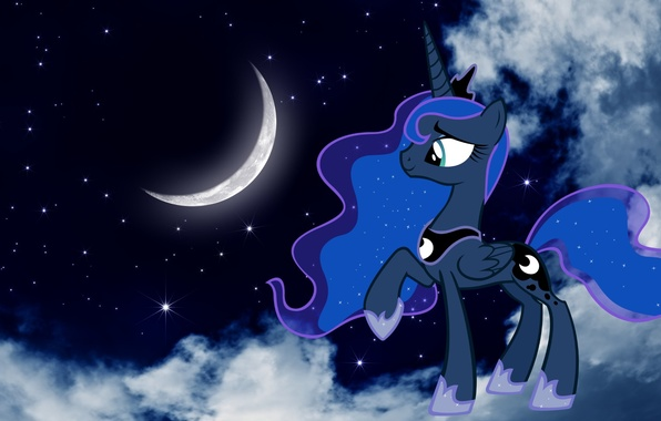 Wallpaper stars night the moon pony cartoons princess - Princess luna screensaver ...