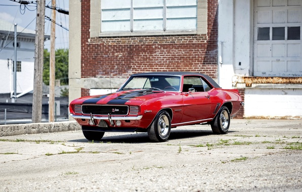 Photo wallpaper Camaro, Chevrolet, Camaro, 1969, Chevrolet