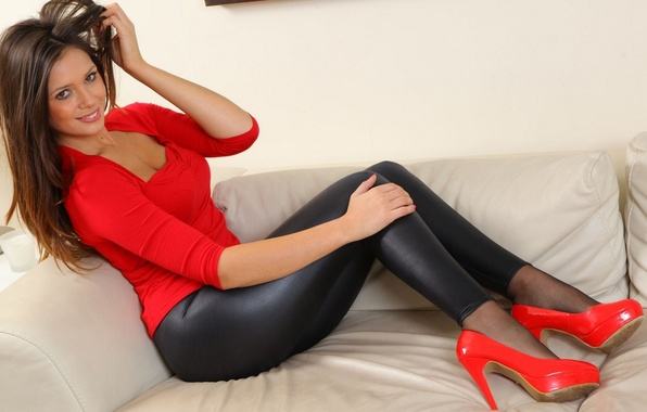 Picture eyes, smile, sofa, shoes, Louisa Marie