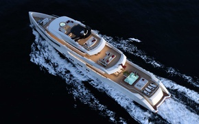 Picture sea, the way, yacht, concept, superyacht, RMK-5000-Explorer, Upview