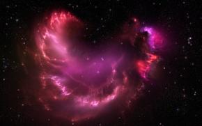 Picture space, nebula, lights, stars