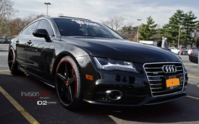 Picture black, With Deep Concave CV2 Wheels By D2FORGED, Audi A7