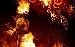 Wallpaper flame, pattern, fire