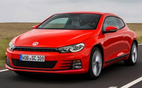 Picture Volkswagen, red, the front, Scirocco, vw