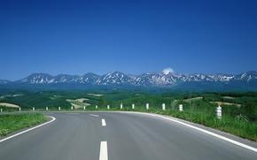 Wallpaper hills, mountains, Road