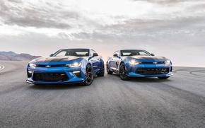 Picture Blue, Chevrolet, Asphalt, Camaro, Car, 2016, Metallic