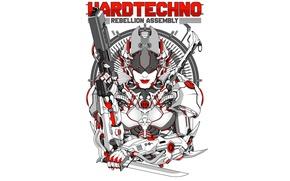 Wallpaper style, music, figure, robot, vector, armor, costume, cyborg, direction, hardtechno, hardtechno