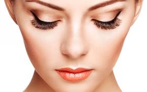Picture macro, face, eyelashes, style, Girl, glamour, fashion