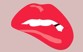 Picture vector, teeth, mouth, lips