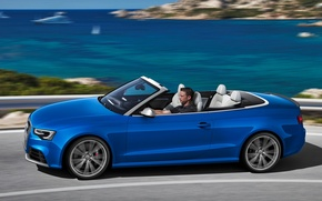 Picture Audi, Sea, Audi, Speed, Convertible, Blue, Beautiful, Car, 2012, Car, RS5, Wallpapers, New, Cabriolet, Wallpaper, …