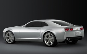 Wallpaper Chevrolet, Camaro, silver