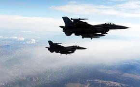 Wallpaper Falcons, Fighting, 2 F-16