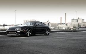 Picture black, Toyota, black, Supra, Toyota, supra